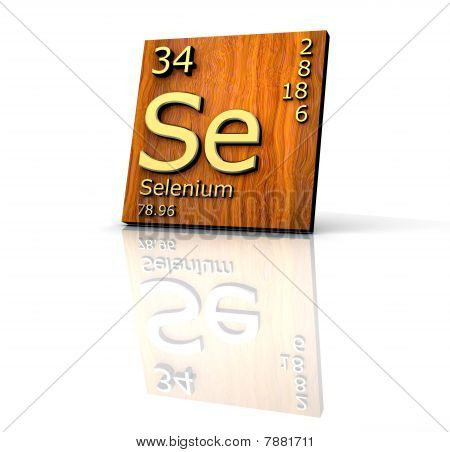 Selenium Form Periodic Table Of Elements - Wood Board