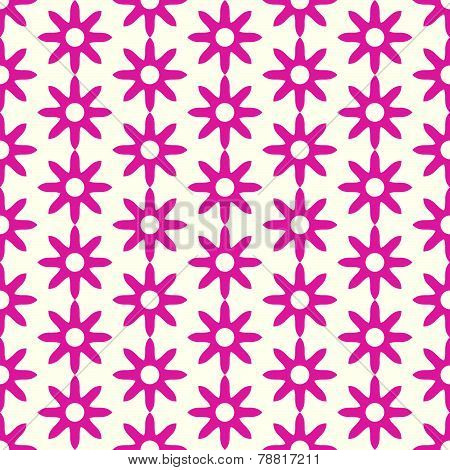 Red Retro Dry Flower Pattern On Pastel Color