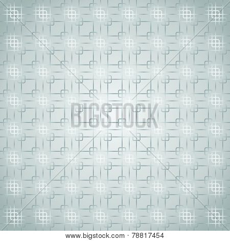 Silver Rounded Corner And Line Pattern On Pastel Background