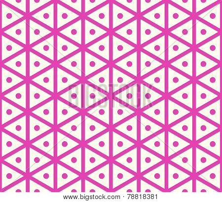 Red Vintage Hexagon And Circle Pattern On Pastel Color