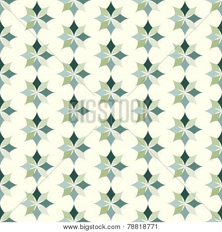 Gray Classic Rhomboid Flower Seamless Pattern