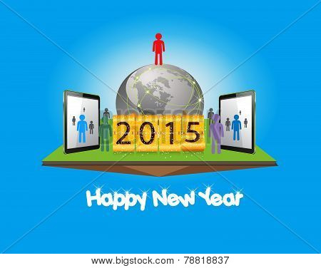 happy new year with business successful