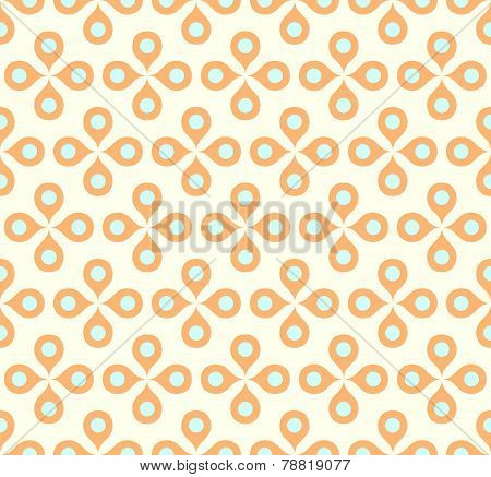 Orange Sweet Flower And Pollen On Pastel Background