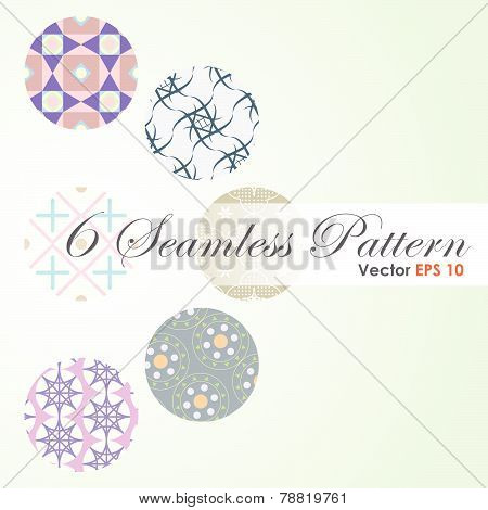 6 In 1 Abstract And Classic Pattern On Pastel Background