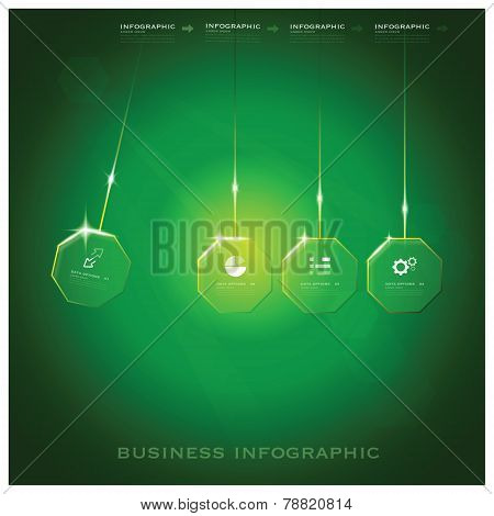 Modern Octagon Business Infographic Background Design Template