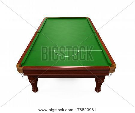 Snooker Table Isolated