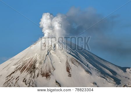 Avachinsky Volcano - Active Volcano Of Kamchatka