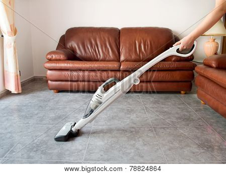 Using The  Vacuum Cleaner