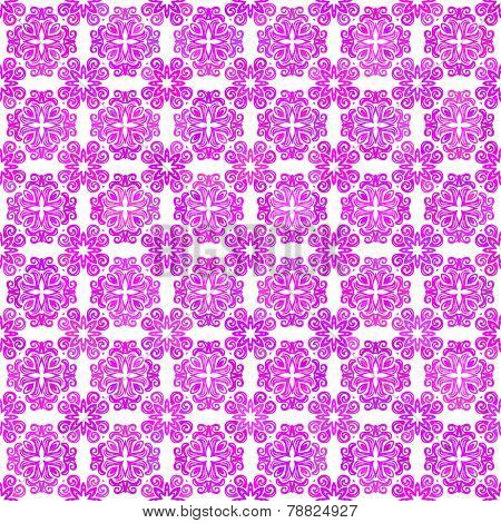Abstract vector background Hand drawn seamless ornament Magenta on white