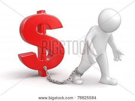 Man and Dollar Sign (clipping path included)
