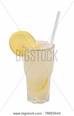 Lemonade in a glass isolated