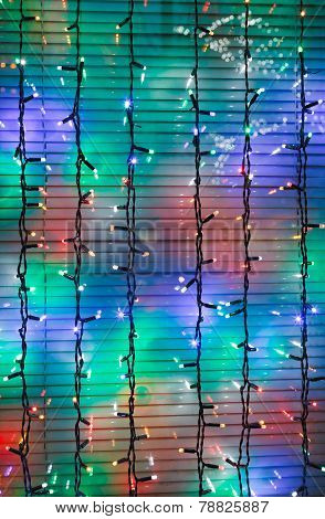 Outdoor Christmas Festoons Decorate Window