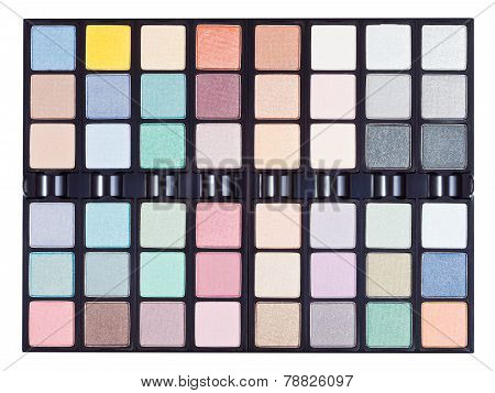 Makeup Kits In Case Close Up Isolated