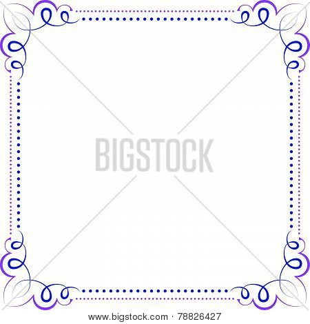 Multilayer Vector Violet Blue Elegant Frame