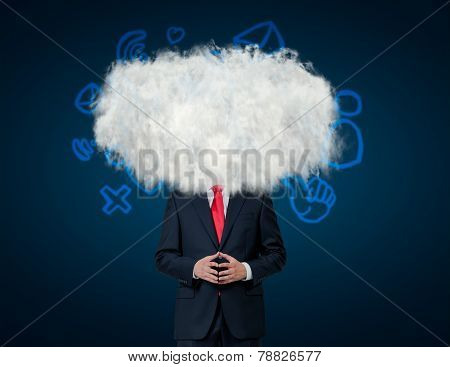 Man With Cloud On His Head
