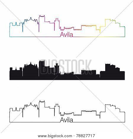 Avila Skyline Linear Style With Rainbow