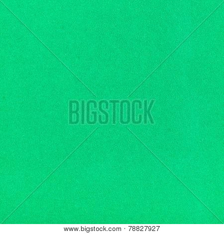 Square Background From Green Color Velvet Paper