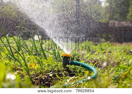 Watering garden equipment