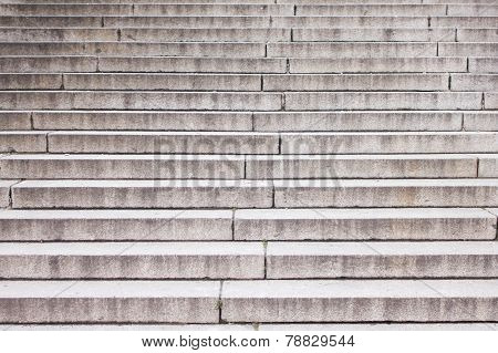 Well worn granite stairs