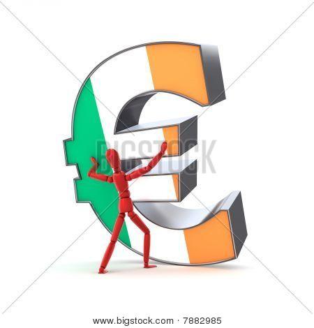 Mantendo-se o Euro - bandeira irlandesa