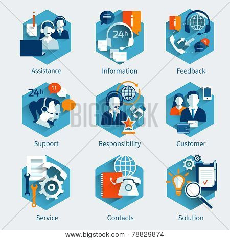 Customer Service Concept Set