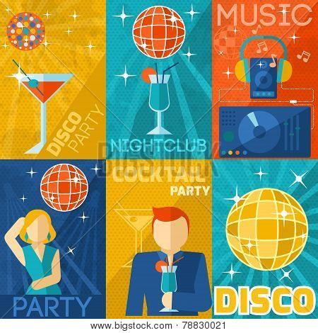 Night Club Poster Set