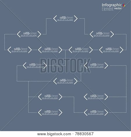 Corporate organization chart template with rectangle elements.