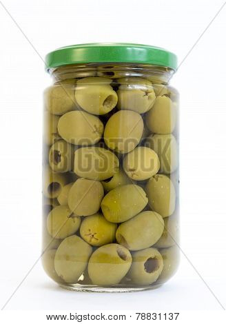 Green Olives Jar