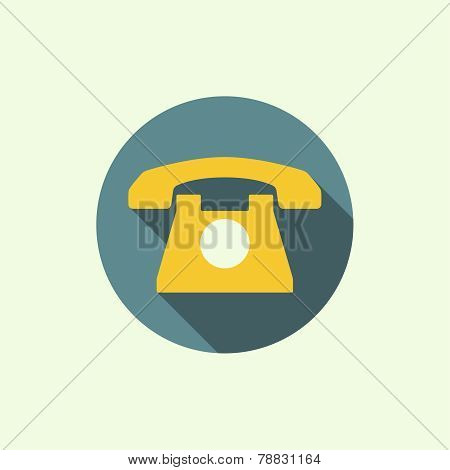 Abstract background with an old rotary telephone.