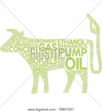 biofuel pictogram tagcloud
