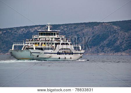 Adriatic Ferry Boat, Cres, Croatia
