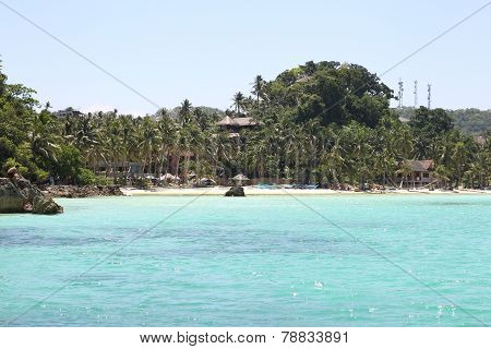 Scenic Views Of The Coastline Of Boracay Island