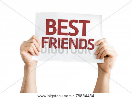 Best Friends card isolated on white background
