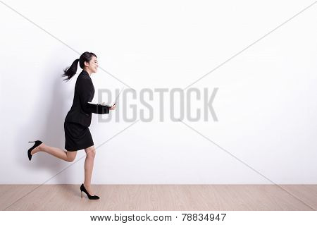 Business Woman Run