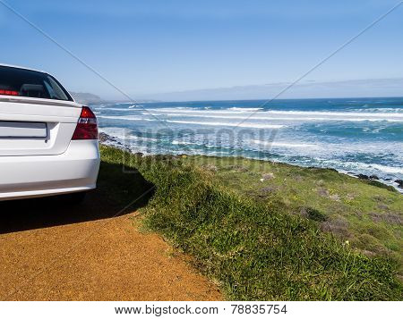 Car on the route to the Cape of Good Hope, South Africa