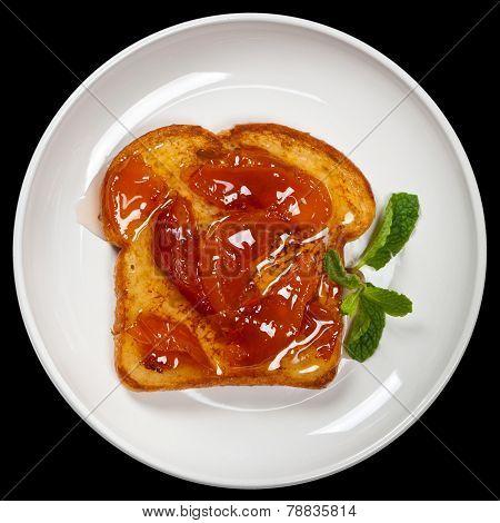 Toast with Peach jam