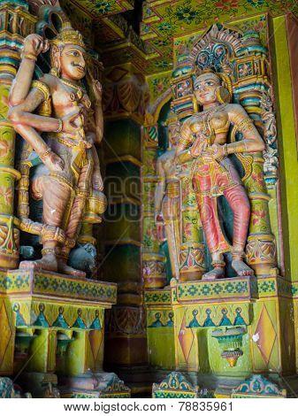 Sculptures in Bhandasar Jain Temple, Bikaner, India