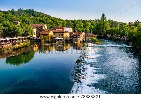 View of Borghetto, Valeggio sul Mincio, Italy