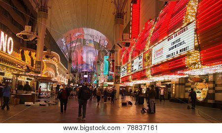 Neon Lights In Downtown Las Vegas