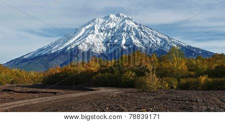 Mountain Landscape Of Kamchatka Peninsula: Koryaksky Volcano