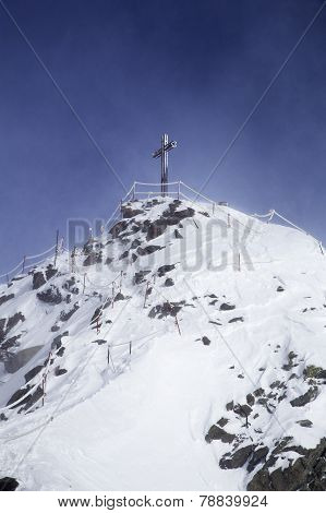 Cross on the top of mountain