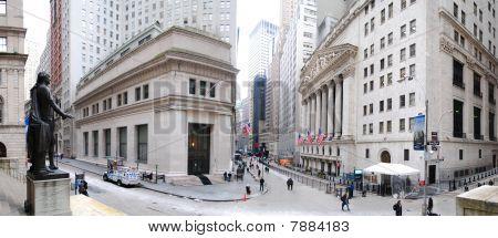 New York City Wall Street Panorama