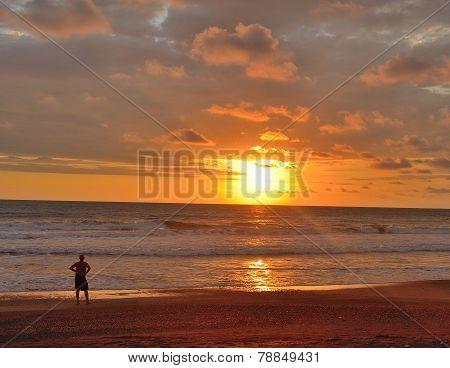 sunset in costarica