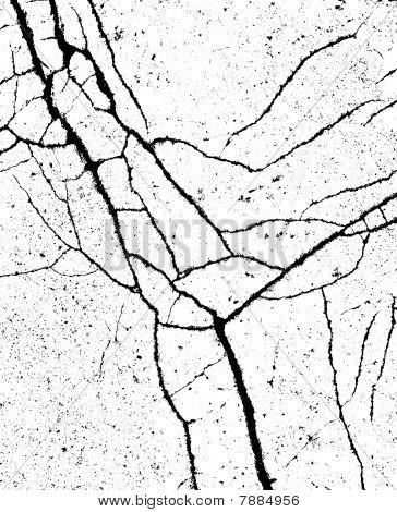 Split Black Crack Pattern On White Bump Alpha Map