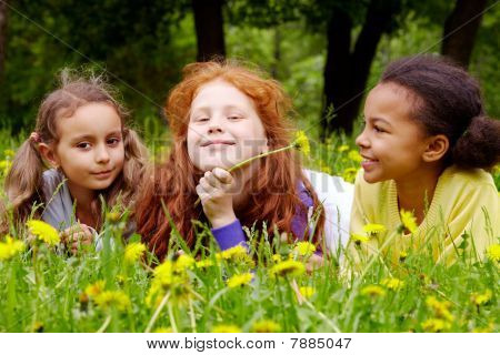 Girls With Dandelions