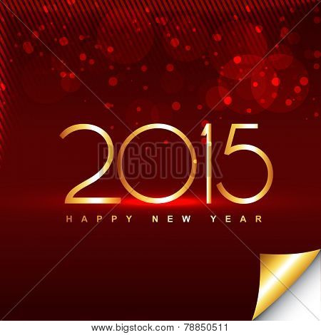 shiny happy new year design with transparent circles and lines at the top