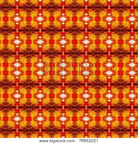 Pattern Of Macro Marigold Flower
