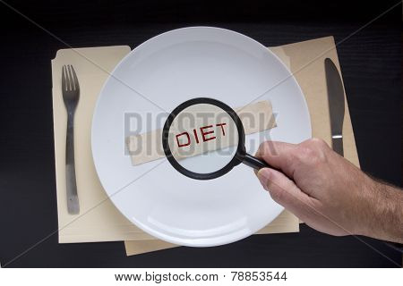Magnifying Glass And Text Diet