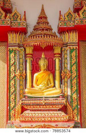 buddha statue at Wat Ban Ma
