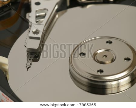 Internal view of hard drive